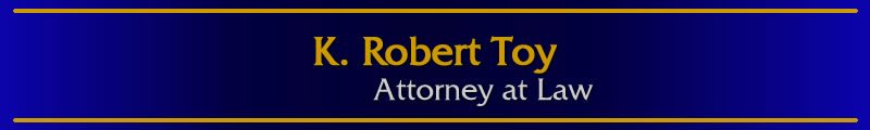 Toy Law Office Header and link to Home Page